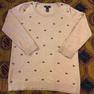 Gap jeweled sweater.